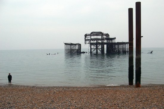 West Pier: Atmospheric view from the shoreline