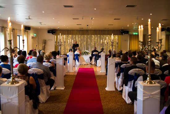 Glenside Hotel: in function room where ceremony was held