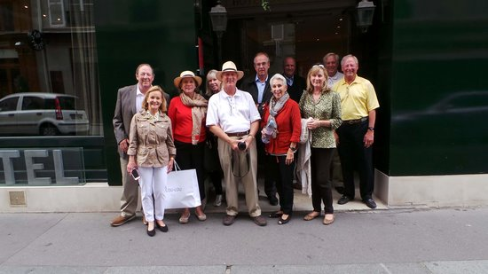 Hotel Saint Germain: Our group on departure, Slim took the picture and emailed to us.
