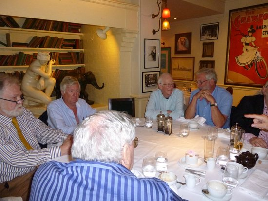 Langans Brasserie : reunion lunch, 'we'll meet again'...
