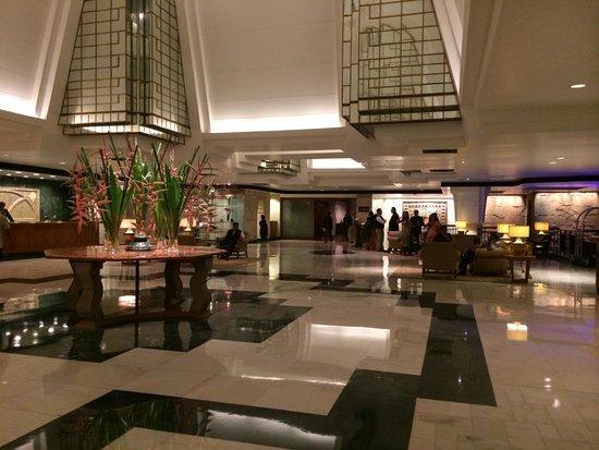The foyer of the Hyatt Regency Delhi