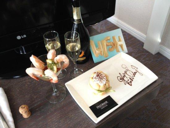 Kimpton Hotel Palomar Philadelphia: Birthday Surprise