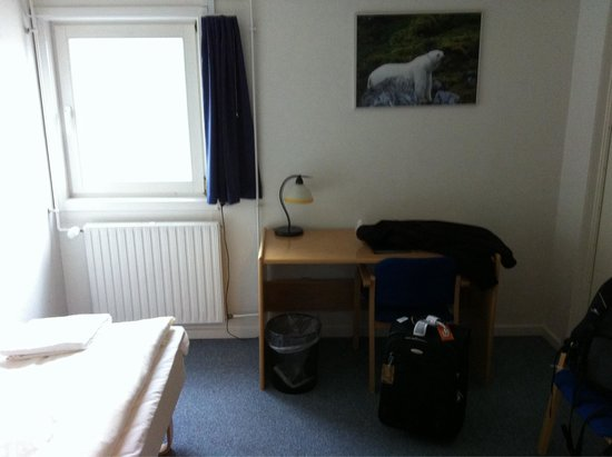 Polar Lodge: This is a typical single room for 785 DKK