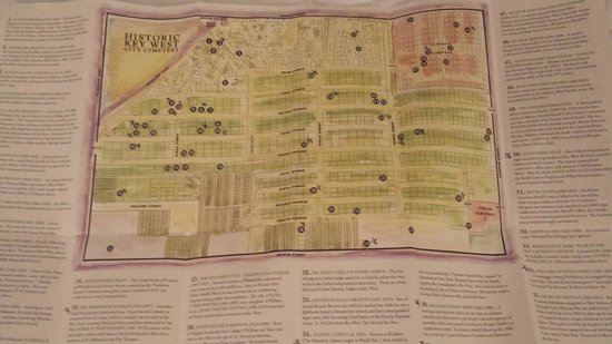 Key West Cemetery : Map of Cemetery