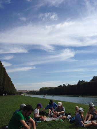 Bike About Tours : View from our picnic at Versailles