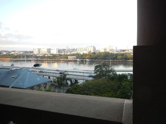 Treasury Hotel & Casino : Overlooking the Brisbane River from my room with a balcony.