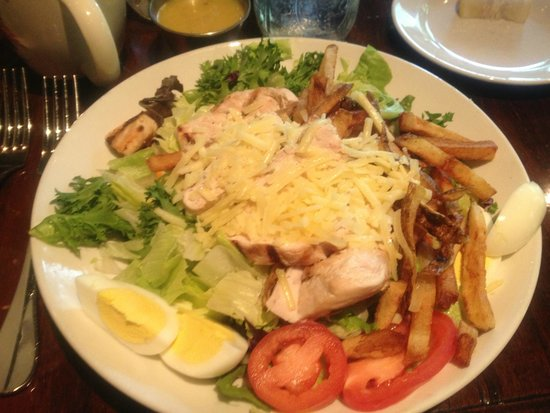 Very good grilled chicken salad picture of log cabin inn for Log cabin restaurant zelienople pa