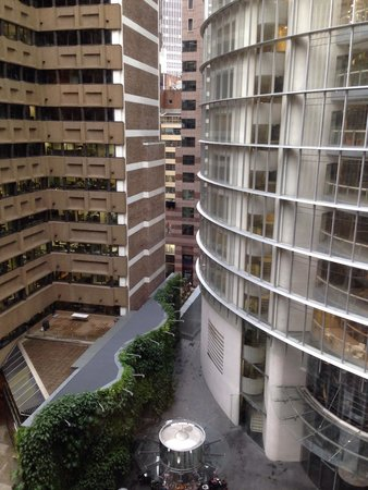 Sofitel Sydney Wentworth : View from 8 floor room. Can't hear street so good for sleeping.