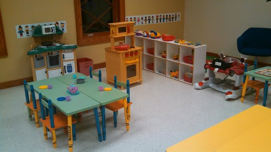 Thompson Community Center: Our play room is available for family time.
