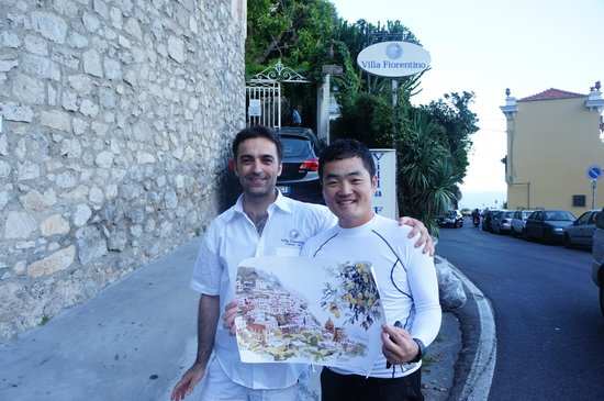 빌라 피오렌티노: Thank you for the present of fantastic positano drawing!!!