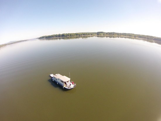 Go Pro Pic From Above Picture Of Lake Champlain Vermont