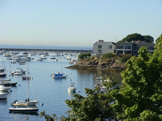Marblehead Summer House: From the backyard