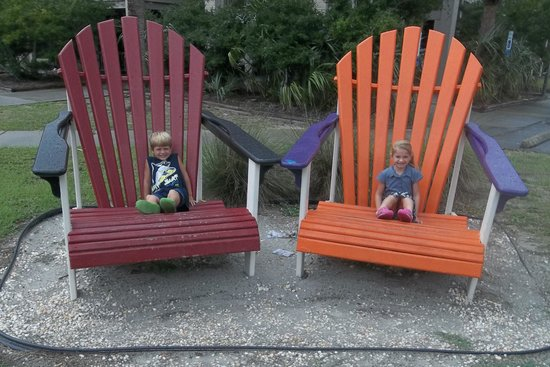 Huntington Beach State Park : The kids loved the big chairs at the gift shop/store area!