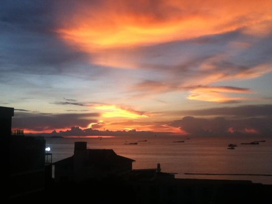 The Bayview Hotel: sunset view from 6tyh floor