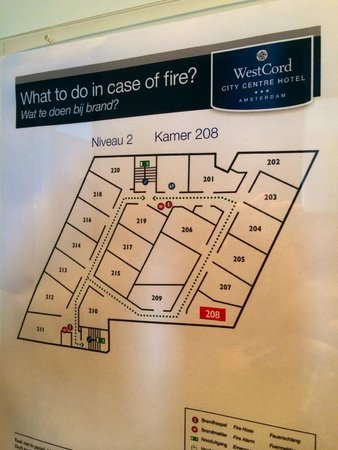 WestCord City Centre Hotel Amsterdam: Floor layout