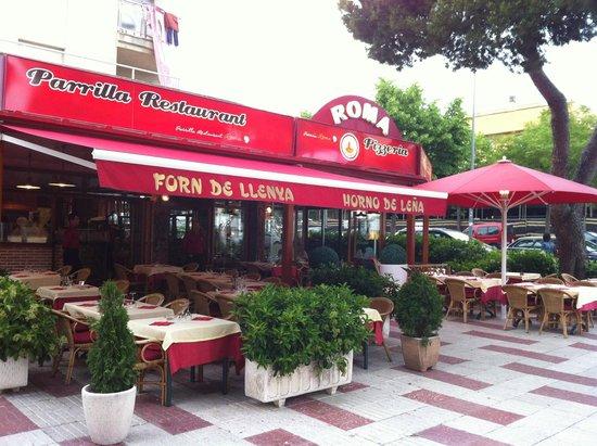 Restaurante pizzeria roma en castell platja d 39 aro con - Pizzeria con giardino roma ...