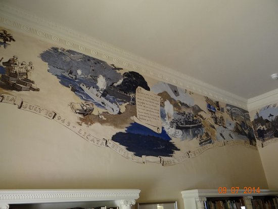 Agatha Christie Mile: Mural In Library