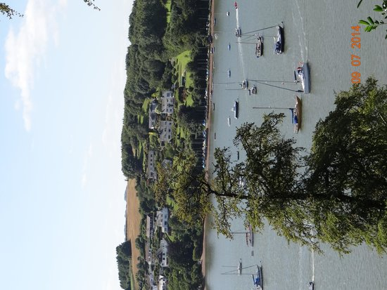 Agatha Christie Mile: View of the Dart River from front garden