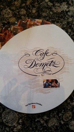 Caffe' Pasticceria Demetz: Copertina menù