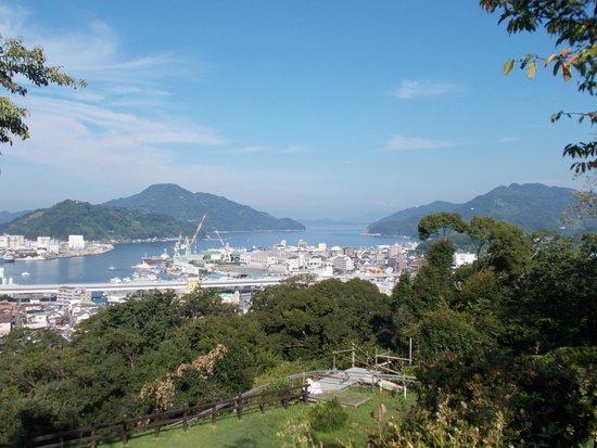 Uwajima Terninal Hotel: 城山頂上からの景観