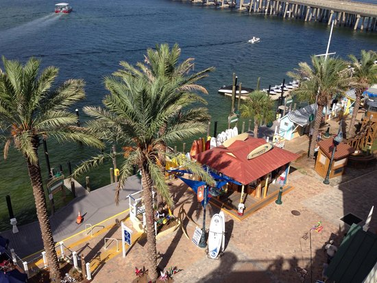 Emerald Grande at HarborWalk Village: View from an outside wedding at the Emerald Grande