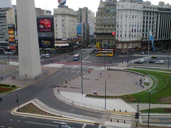 Globales Republica: vista desde a sacada do hotel
