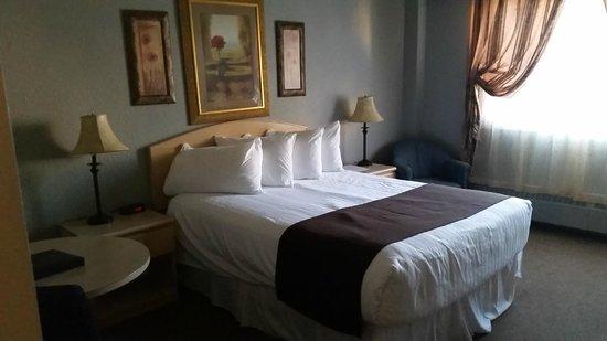 Medicine Hat Inn & VLT Lounge: Standard queen room,  Coast Hotel Medicine Hat     3216 13th Ave SE, Medicine Hat, Alberta T1B 1