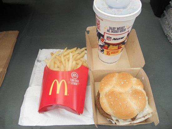 McDonald's: bad mushroom cheese burger and fries