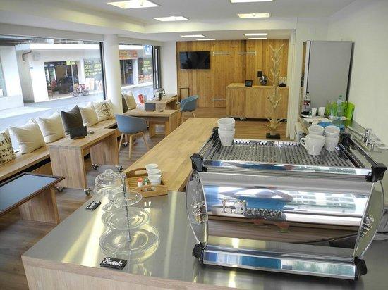 Wildpeak Coffee Shop: multifunctional furniture