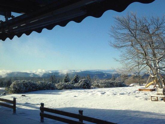 Nationalpark-Hotel Schliffkopf: Aussicht aus dem Frühstückssaal im Februar