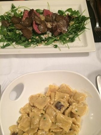 fillet of beef and the ravioli with truffles!