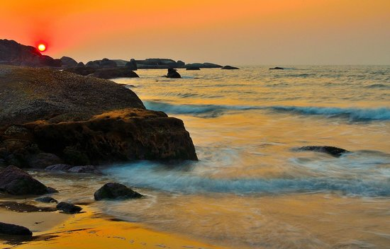 Agonda Beach : Sunset at Agonda