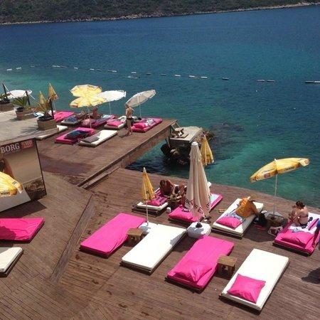 Kas Marin Hotel: Plaj görüntümüz