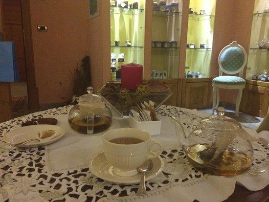 Villa Orso Grigio: Tisana dopo il massaggio, sala gourmet