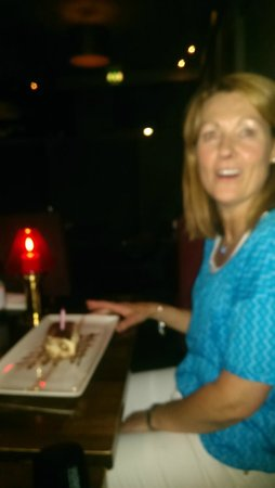 Maximilians Bistro & Wine Bar : A little Birthday cake on the house
