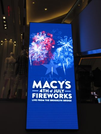 Hotel on Rivington: Macys Fireworks advertising 1