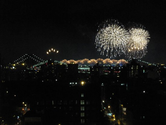 Hotel on Rivington: 4th July Fire works view 1