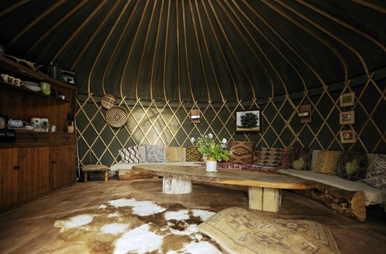 Stock Gaylard Yurts: Withy Bed living area