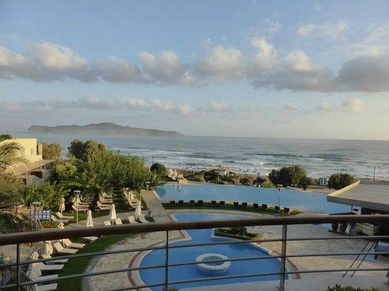 Morning view from Cretan Dream Royal top floor