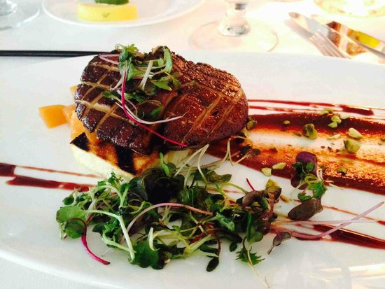 Peter Shields Inn & Restaurant: Delicious foie gras (but with decaying microgreens)