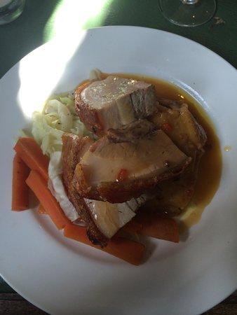 Helen Browning's Royal Oak: Roast Belly Pork! Yum!