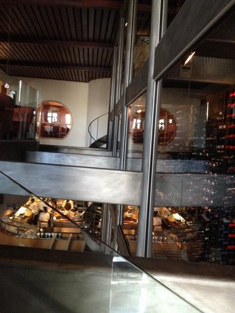 Cypress - A Lowcountry Grille : Glass wine wall