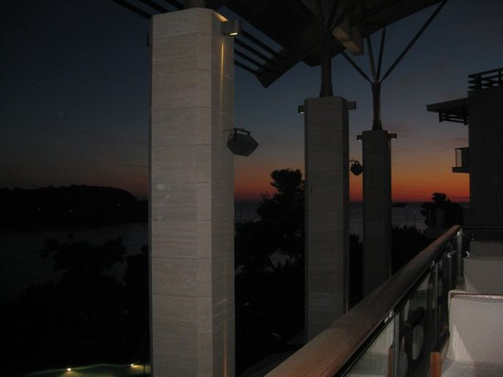 Hotel Monte Mulini: Sunset from the terrace Mediterraneo restaurant