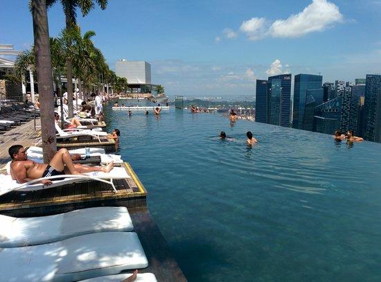 La piscina sul tetto dell 39 albergo foto di marina bay sands singapore tripadvisor - Singapore hotel piscina ...