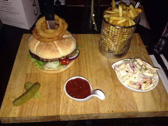 The burger I had at the crown inn last week