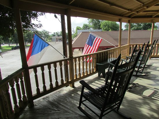 Upstairs balcony with czech and us flags flying picture for Balcony upstairs