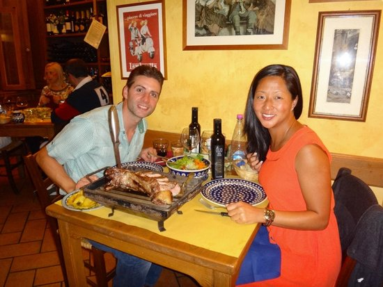 Cinque di Vino: Our meal and table