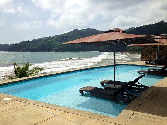 Pagua Bay House Oceanfront Cabanas: La piscine