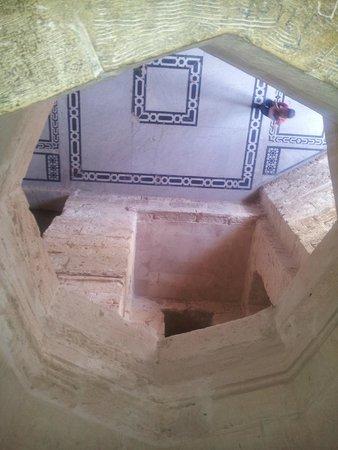Fort Qaitbey: A look down through a central shaft