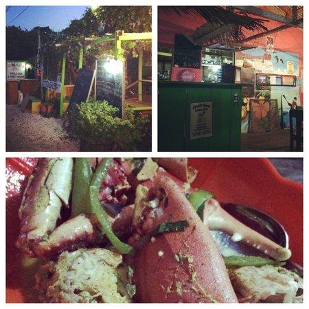 Omar's : Outside, Inside, Dinner.